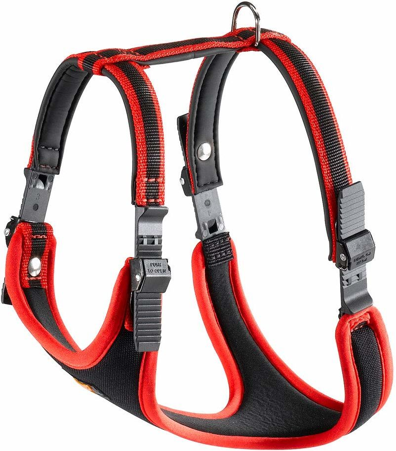 Ferplast Ergocomfort nylonowa wyściełana szelka dla psa bardzo duża czerwona/czarna