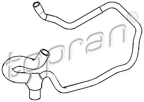 Przewód elastyczny chłodnicy TOPRAN 207 503