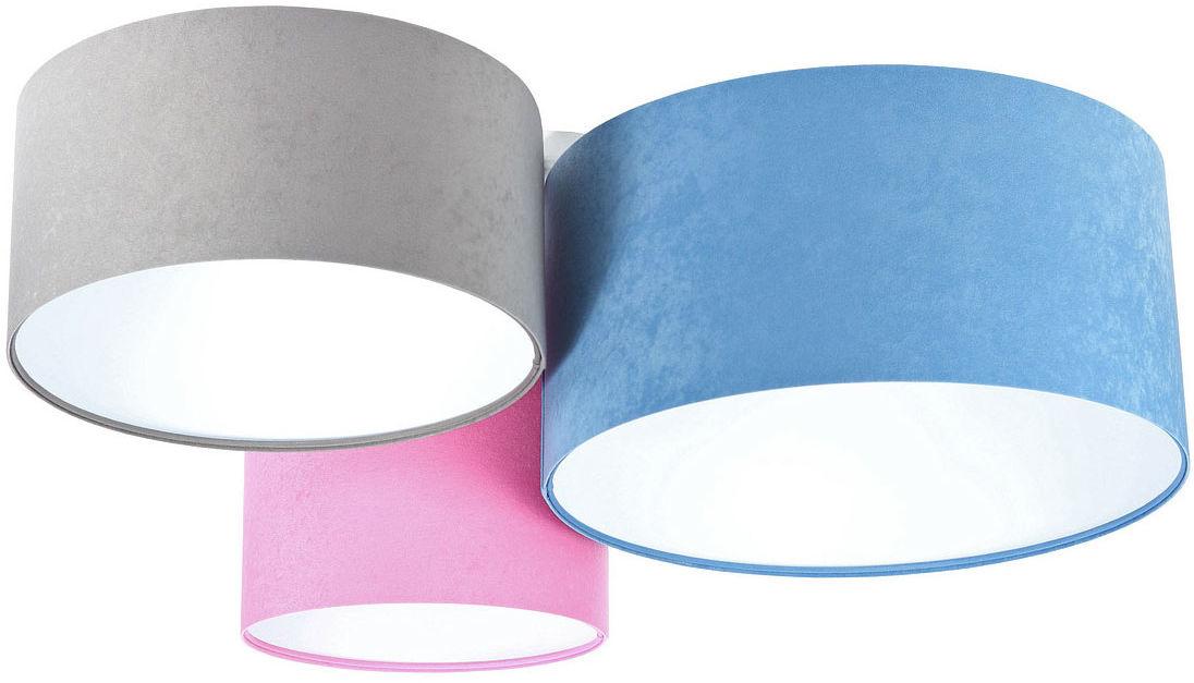 Kolorowy plafon z białym wnętrzem abażura - EXX56-Ivesa