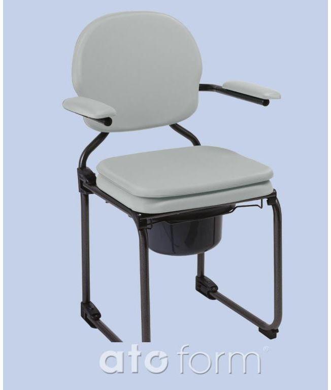 Krzesło toaletowe składane Herdegen Best Up Siedzisko podwójne Grey
