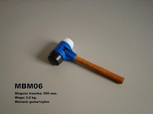 Młotek brukarski 3,2 kg MIMAL MBM 06 (Guma + nylon)