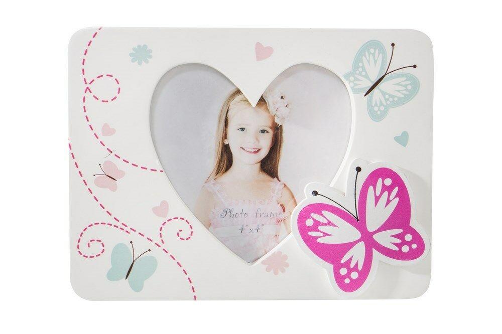 Ramka na zdjęcia 16x1x12 Juliet 04 drewniana biała serce motylki Eurofirany