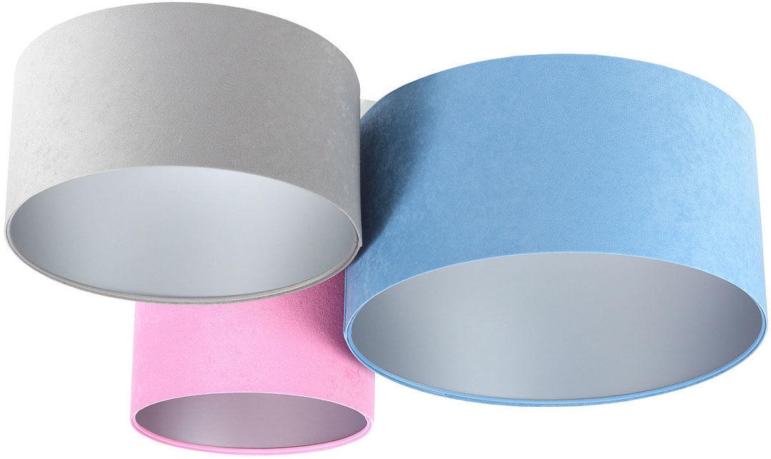 Kolorowy plafon ze srebrnym wnętrzem abażura - EXX56-Ivesa