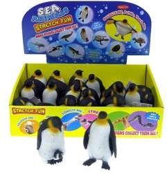 Pingwin z groszkiem miękki streczowy 9cm