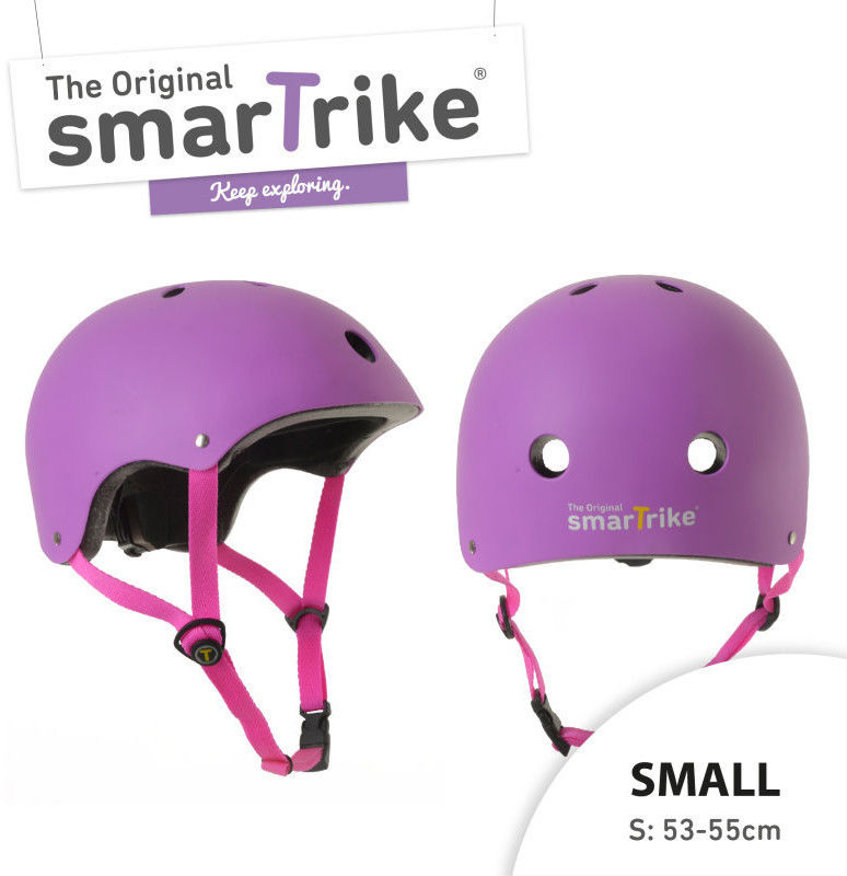 Kask Rowerowy Smart Trike S - Fioletowy