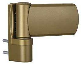 Zawias do drzwi PVC greenteQ przylga 13,5-16,5 kolor złoty/RAL 1036 do 100 kg