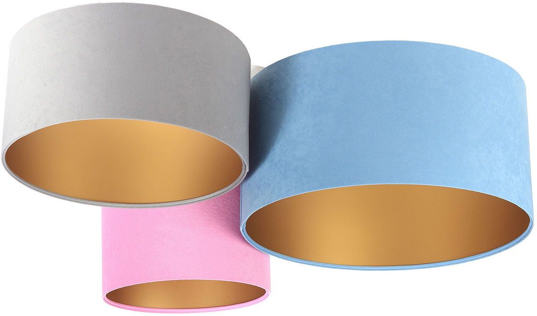 Kolorowy plafon ze złotym wnętrzem abażura - EXX56-Ivesa