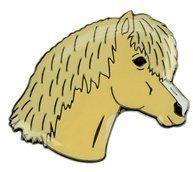 Znaczek ozdobny 67 - głowa izabelowatego kucyka - HappyRoss