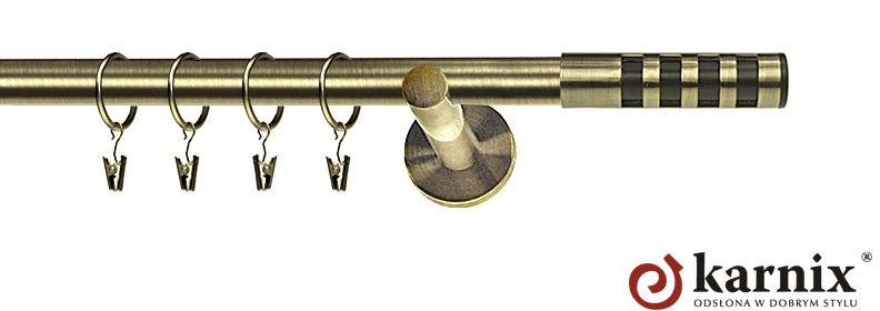 Karnisz nowoczesny NEO pojedynczy 16mm Dakota Premium antyk mosiądz