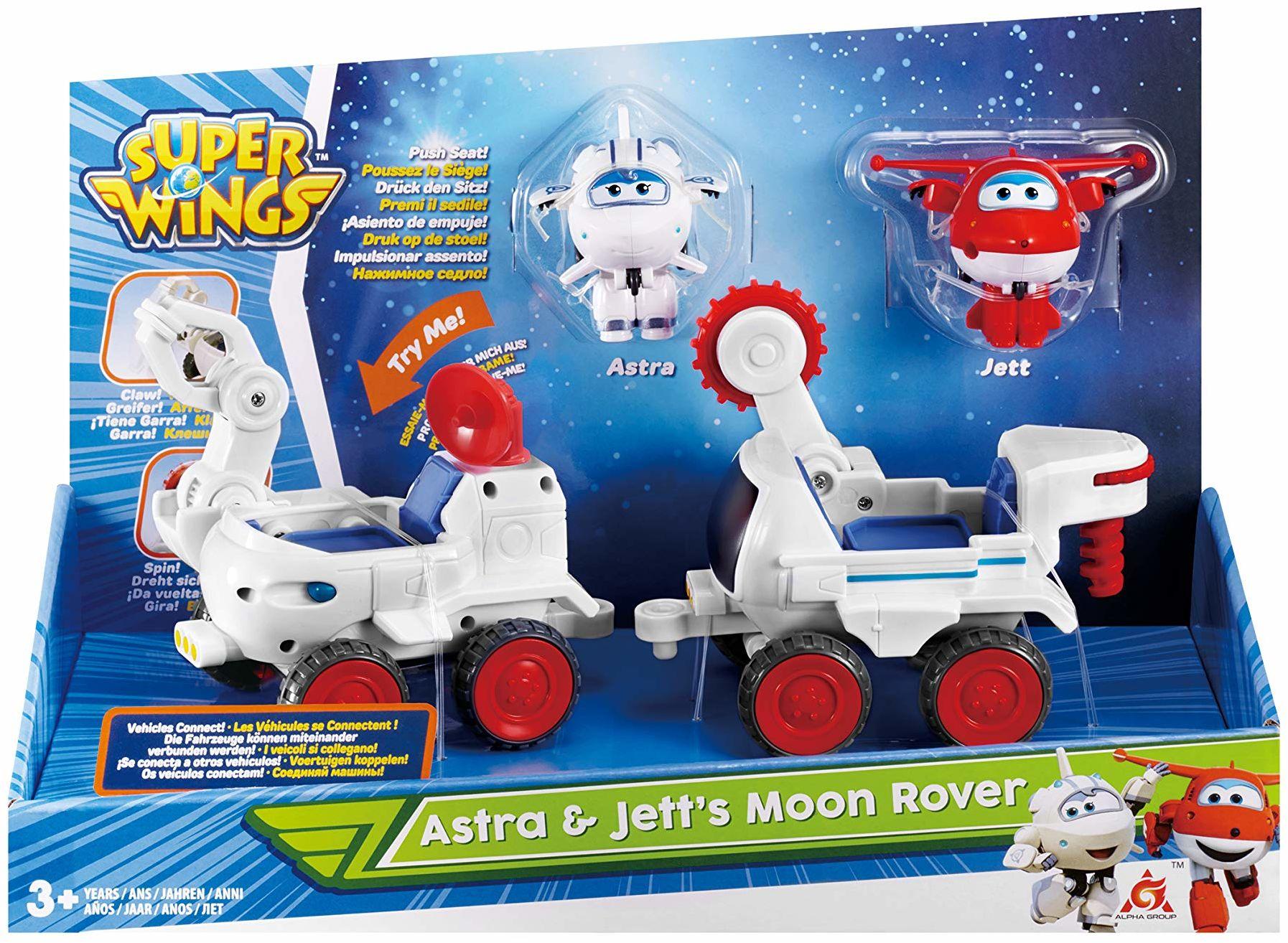Super Wings Astra i JETT''s Moon Rover Transform-a-Bot 2