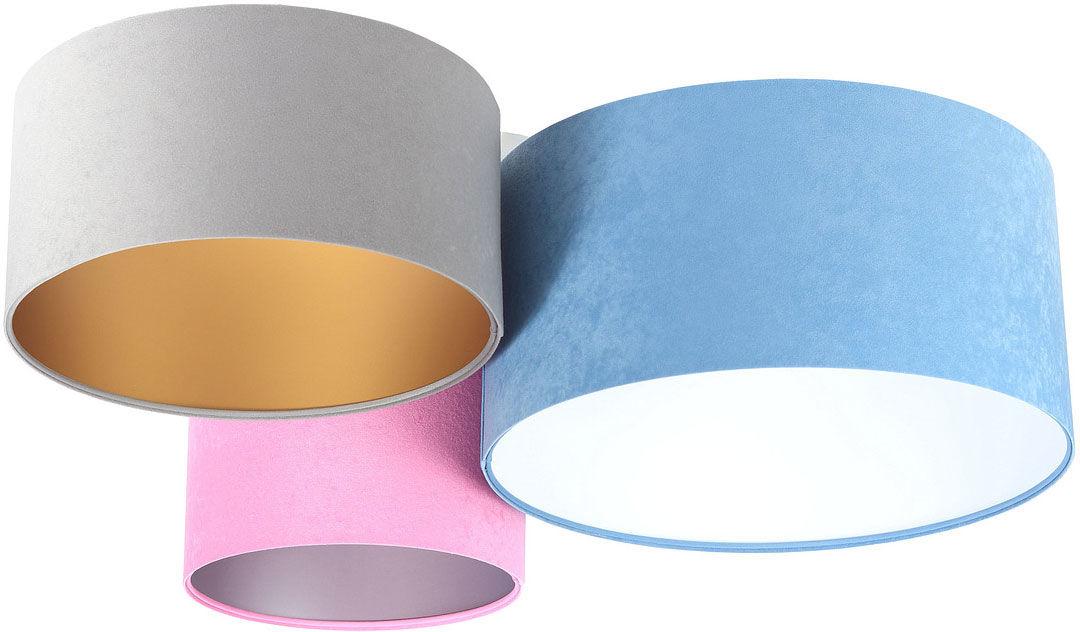 Kolorowy potrójny plafon z abażurami - EXX57-Monis