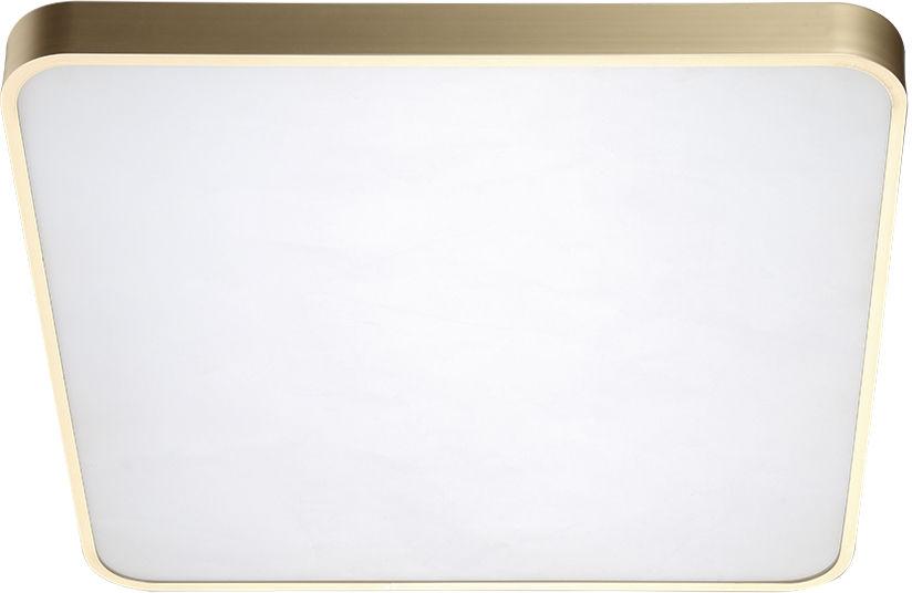 Plafon Quadro 50 CCT AZ2760 AZzardo kwadratowa oprawa w kolorze złotym