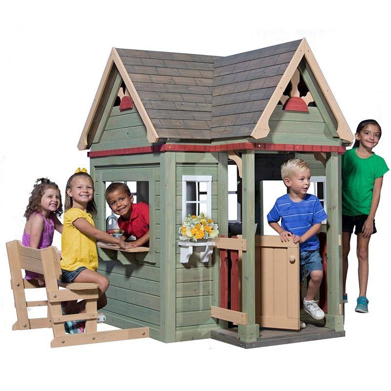 Drewniany domek ogrodowy dla dzieci Victorian Inn Backyard Discovery LK