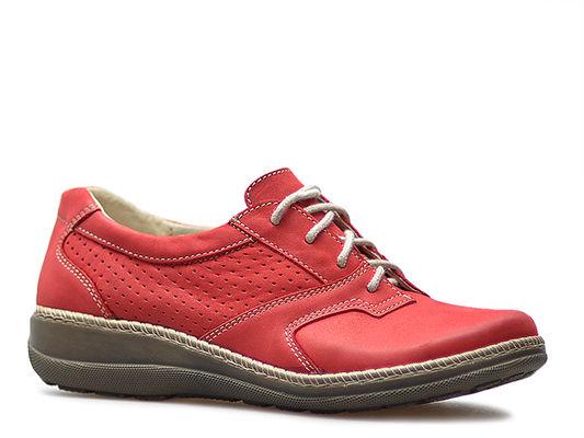 Półbuty Helios 314 Czerwone lico