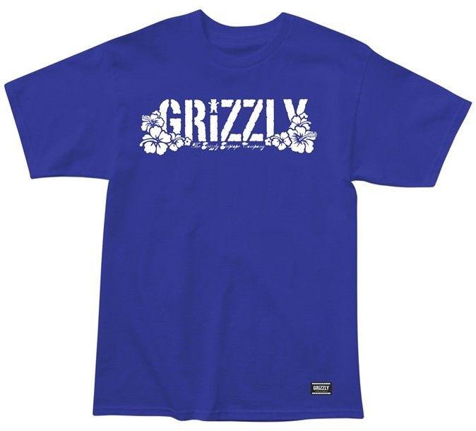 koszulka GRIZZLY - Aloha Tee Royal (ROY)