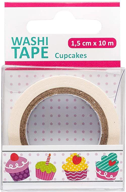 III Washi Tape Cupcake, 1 rolka, 1,5 cm x 10 m, wielokolorowy