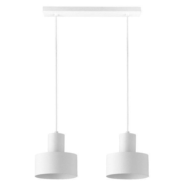 Lampa wisząca listwa RIF biała 2pkt 42cm
