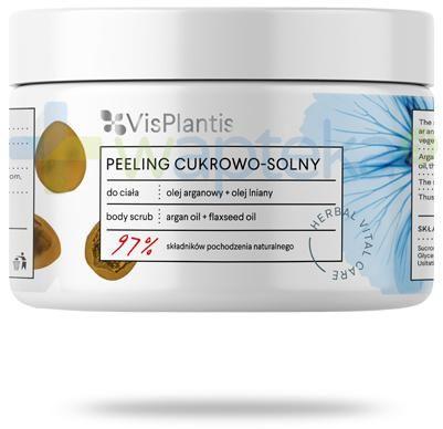 Vis Plantis Herbal Vital Care peeling cukrowo solny olej arganowy + olej lniany do ciała 200 ml Elfa Pharm