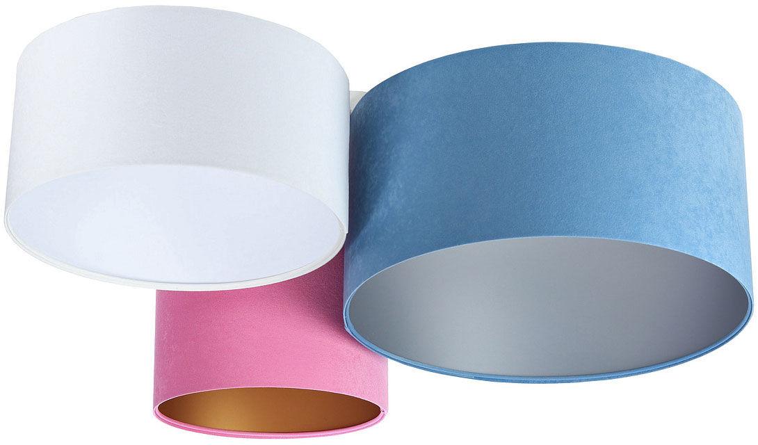 Kolorowy potrójny plafon abażurowy - EXX59-Lenisa