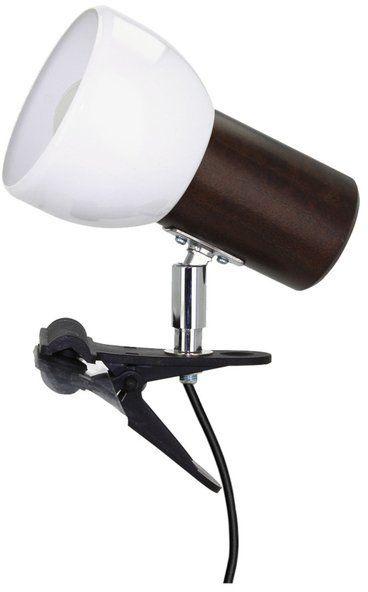 Lampa stołowa SVENDA CLIPS z drewna bukowego kolor orzech, 2224176K