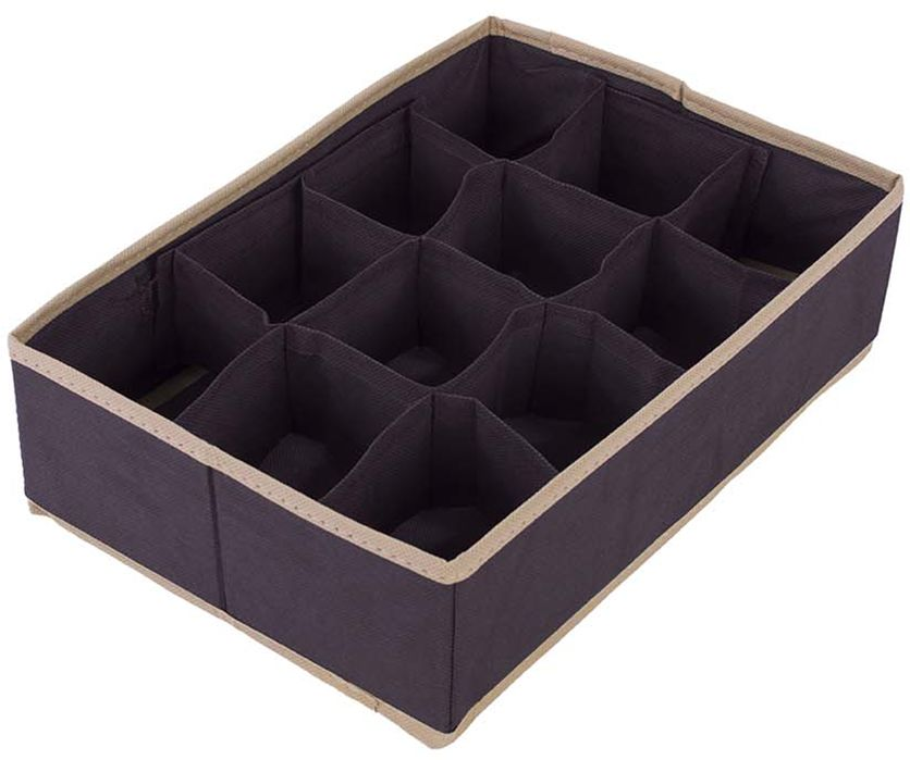 Organizer do szuflady brąz 32 x 22 x 9 - Brąz