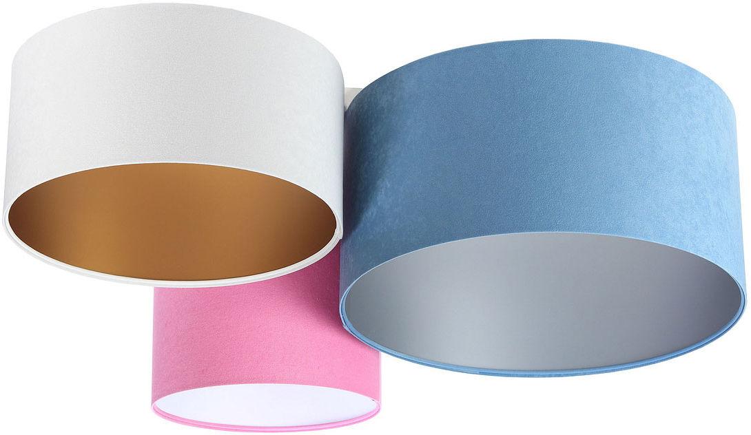 Kolorowy welurowy plafon abażurowy - EXX59-Lenisa