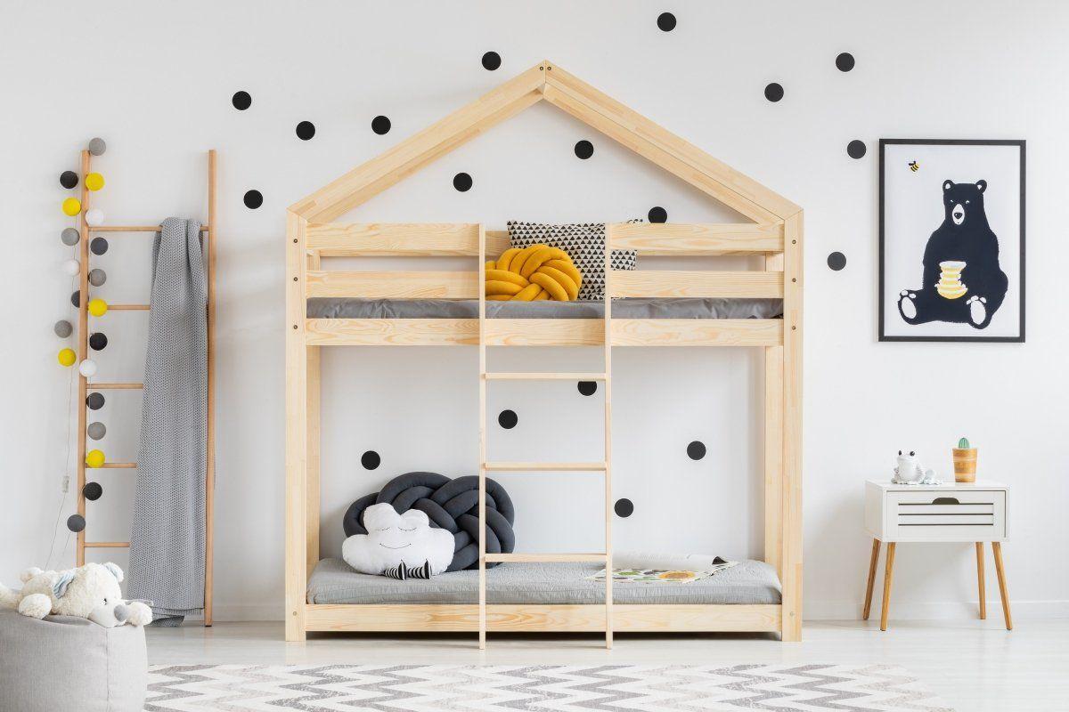 Łóżko piętrowe MILA DMP 80x140 sosna  Kupuj w Sprawdzonych sklepach