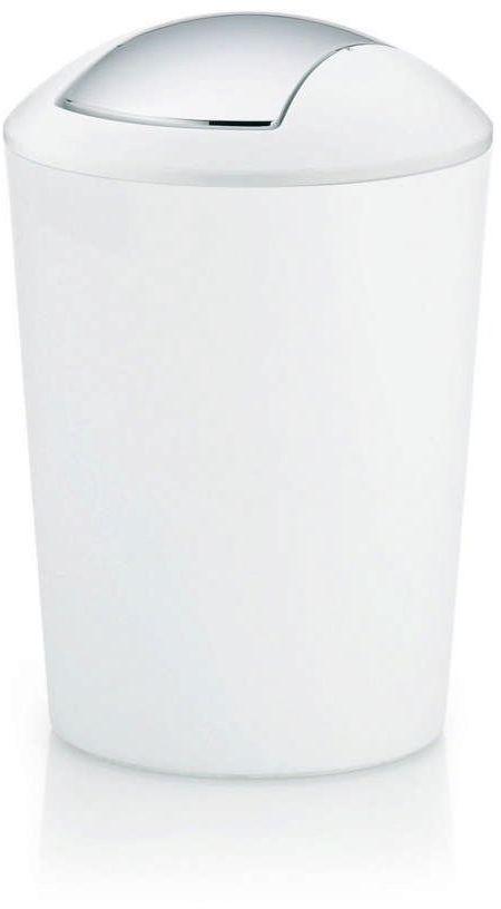 Kela - marta - kosz na śmieci łazienkowy, 5,0 l, biały