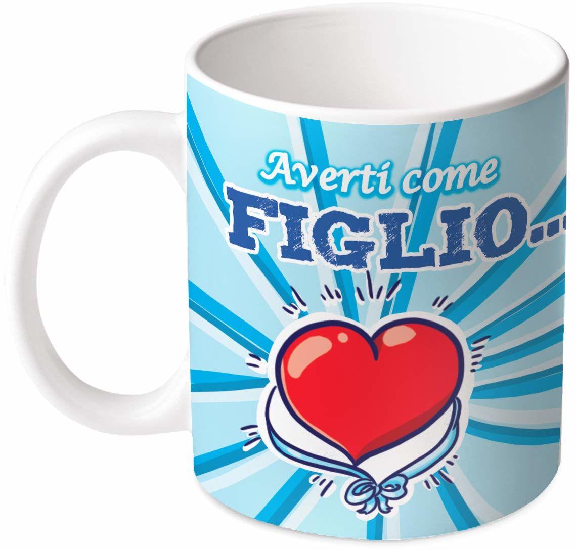 M.M. Group Filiżanka Sentimenti Averti Come Slio jest pięknym Gioia. Sześć jednorożców, 11 uncji, ceramika, wielokolorowa