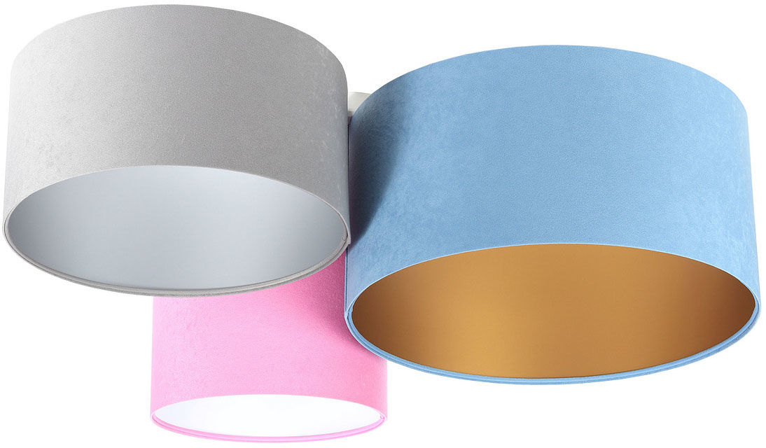 Kolorowy welurowy plafon z abażurami - EXX60-Hores