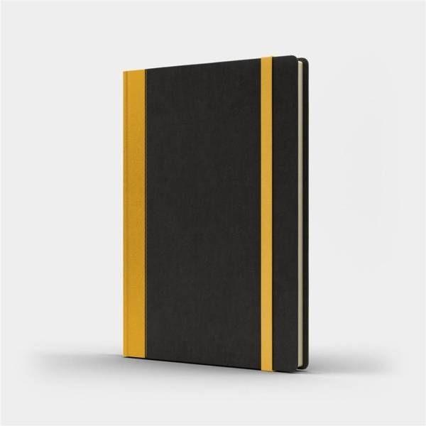 Notatnik A5 Pro M+ gładki czarny/żółty - Like U