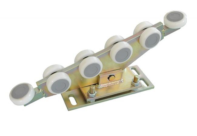 Wózek 10-rolkowy 80x80x5 tworzywo wahliwy z regulacją