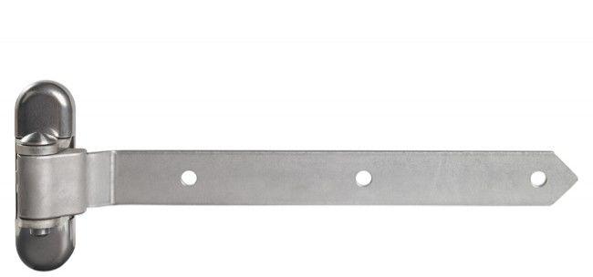 Zawias Locinox 350 mm do bram i furtek z regulacją 3D, 100% stal nierdzewna (nośność do 350 kg) (2 szt)