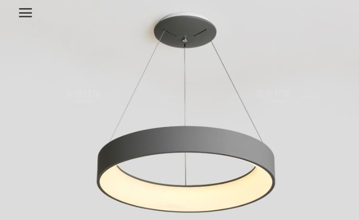Czarna lampa Ring LED 60cm 38W L123