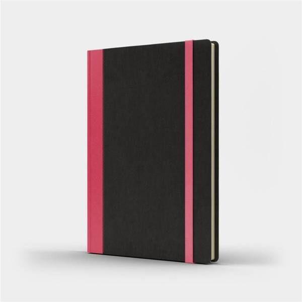 Notatnik A5 Pro M+ gładki czarny/różowy - Like U