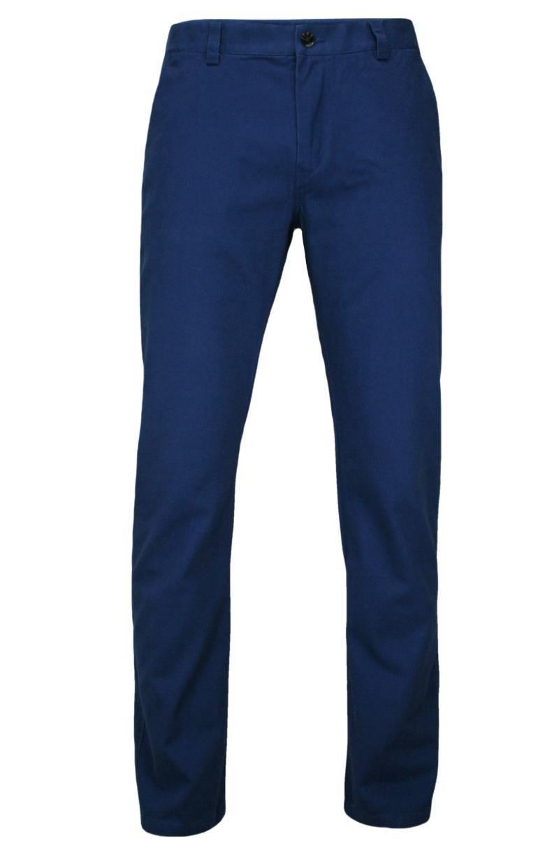 Eleganckie, Męskie Spodnie, 100% BAWEŁNA, Chinosy, Ciemnogranatowe SPCHIAOM1B03NIEB