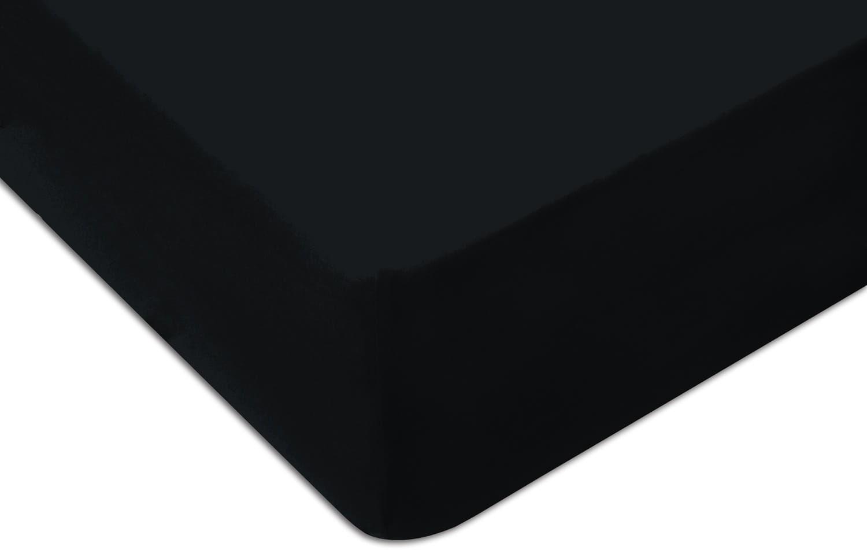 Prześcieradło Jersey 160x200 z gumką KOLOR czarne
