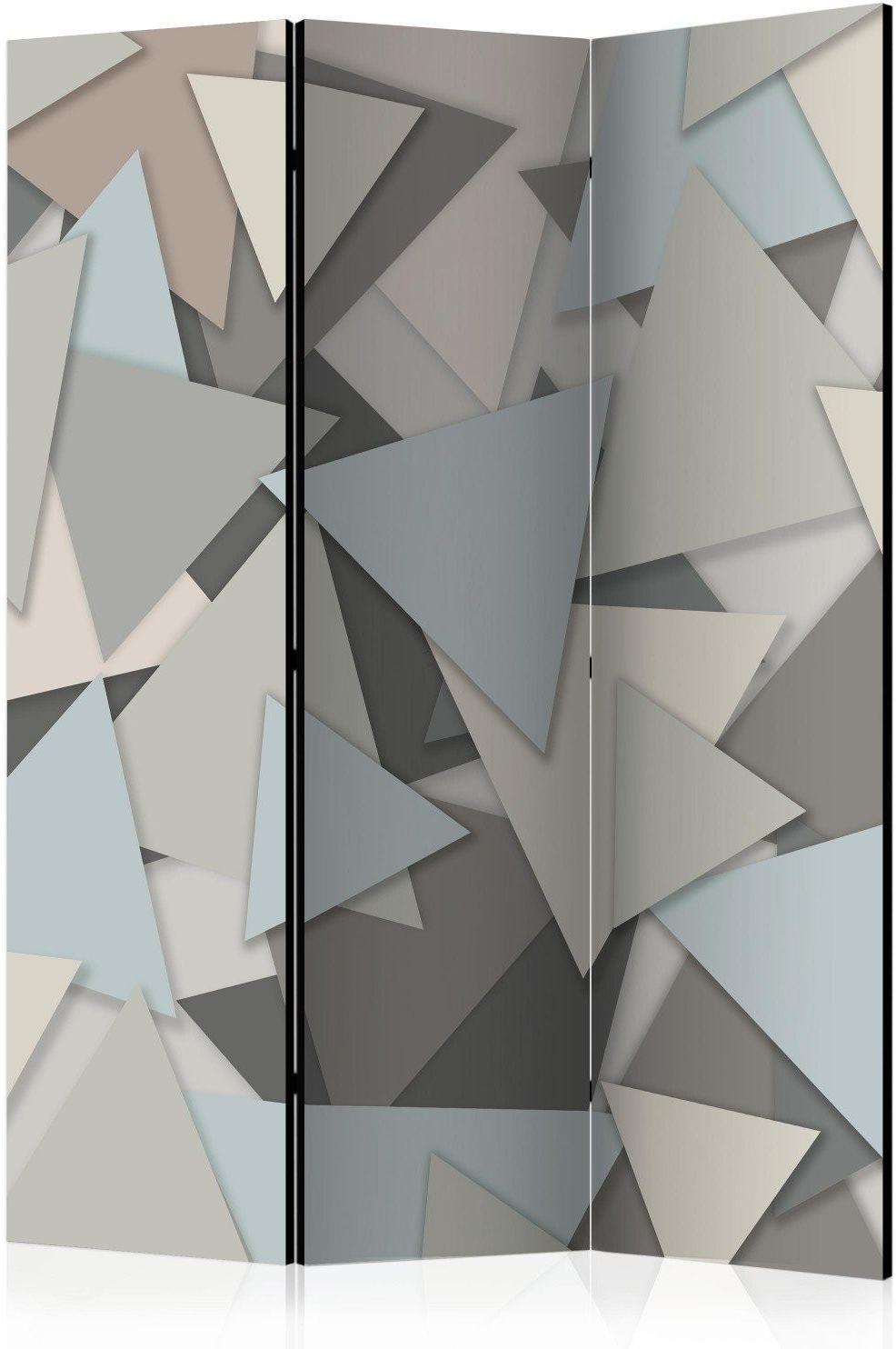 Parawan 3-częściowy - geometryczna układanka [room dividers]