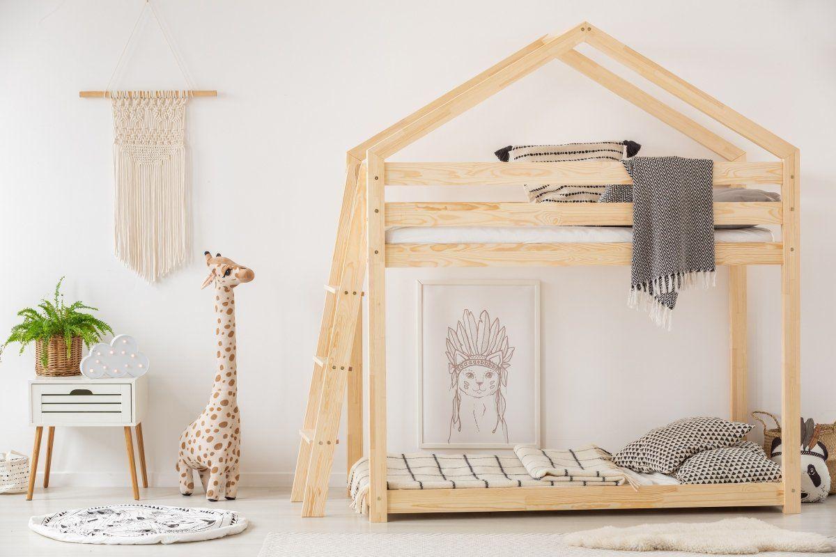 Łóżko piętrowe MILA DMPB 80x180 sosna  Kupuj w Sprawdzonych sklepach