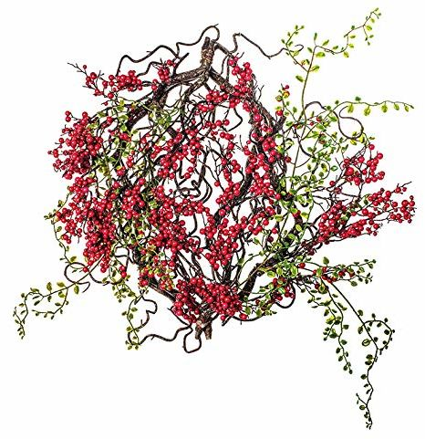 EUROCINSA REF.16343C20 Boże Narodzenie ornamenty shams, pudełko 2 UD, czerwony/zielony, 46 cm