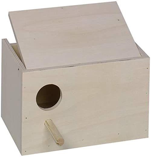 Nobby budka dla ptaków falowanych budka lęgowa otwór po lewej; 22 x 16 x 14 cm