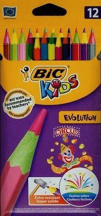 BIC Kredki ołówkowe BIC KIDS Evolution (12 szt. / 12 kolorów)