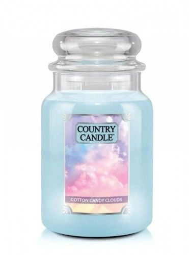 Country Candle - Cotton Candy Clouds - Duży słoik (680g) 2 knoty