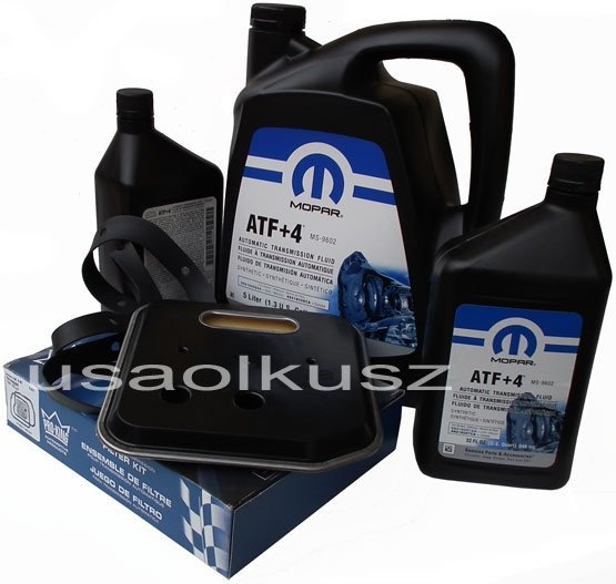 Olej MOPAR ATF+4 6,89l oraz filtr oleju oleju skrzyni biegów 42RE Dodge RAM 1998-2009