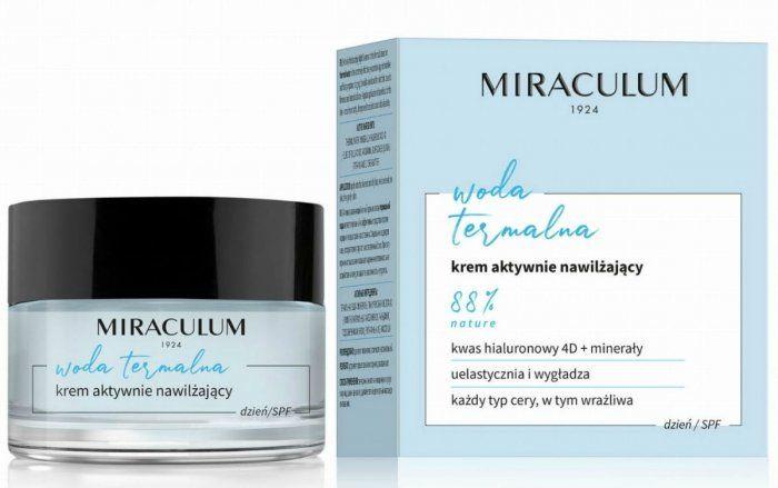 Krem Aktywnie Nawilżający na Dzień, Miraculum Woda Termalna, 50 ml