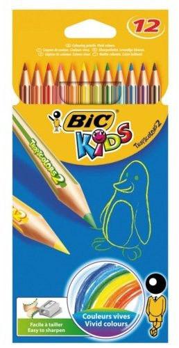 BIC Kredki ołówkowe BIC KIDS Tropicolors (12 szt. / 12 kolorów)