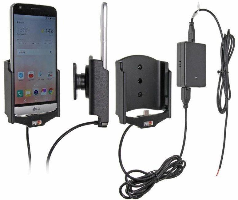 Uchwyt do LG G5 z wbudowaną ładowarką samochodową do instalacji na stałe