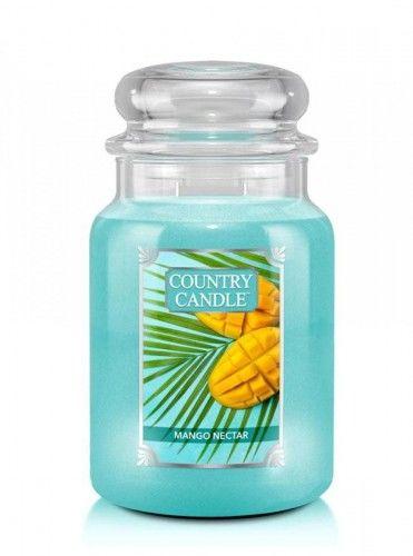 Country Candle - Mango Nectar - Duży słoik (680g) 2 knoty