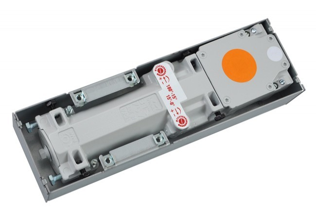 Samozamykacz podłogowy Dorma BTS 75V EN 1-4, bez osi obrotu, z blokadą otwarcia 90st.