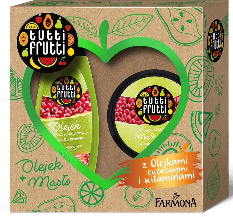 Zestaw Tutti Frutti Gruszka & Żurawina
